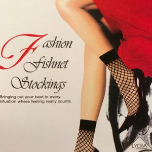 Fishnet Ankle Stockings One Size